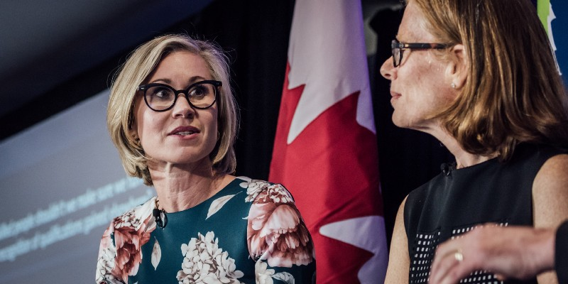 Toronto's chief planner Jennifer Keesmaat, left, says cities need new infrastructure to be built at 'hyper-speed'