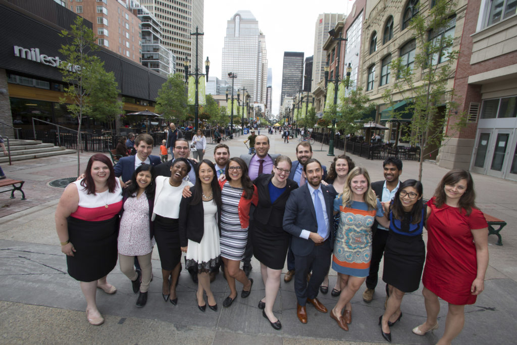 YEF participants on Stephen Ave in Calgary