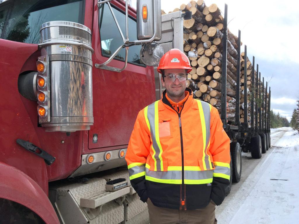 Ukrainian Taras Tovstiy works as a trucker in Chipman, N.B. for J.D. Irving forestry operations.
