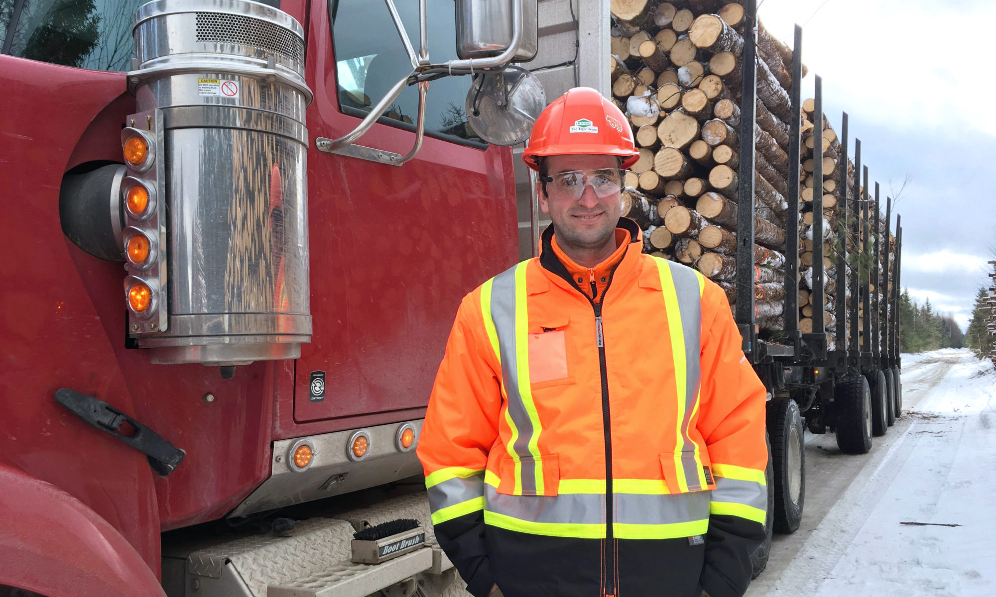 Ukrainian Taras Tovstiy works as a trucker in Chipman, N.B. for J.D. Irving forestry operations.