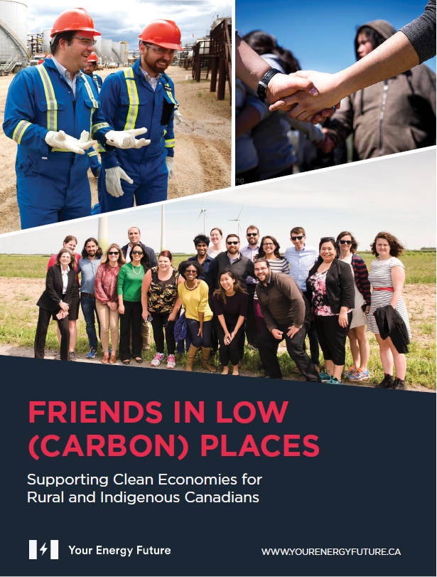 Cover of Friends in Low Carbon Places with link to pdf report