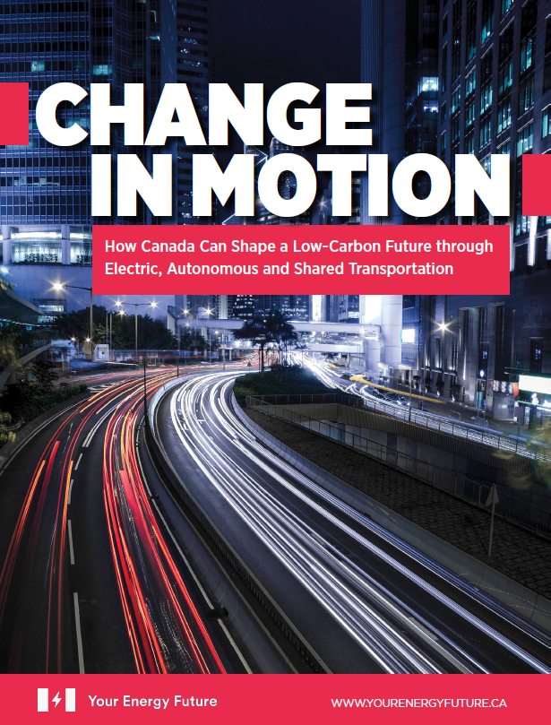 Cover of Change in Motion with link to pdf report
