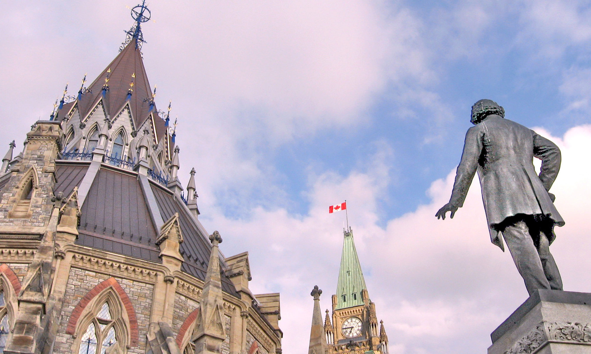 Parliament Hill with a focus on the library