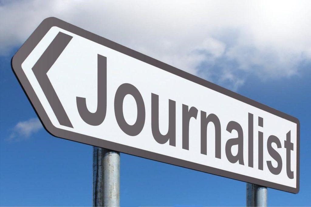 journalist sign