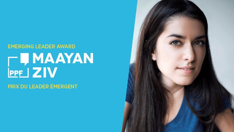 Faites la connaissance de notre lauréate du Prix des leaders émergents, Maayan Ziv