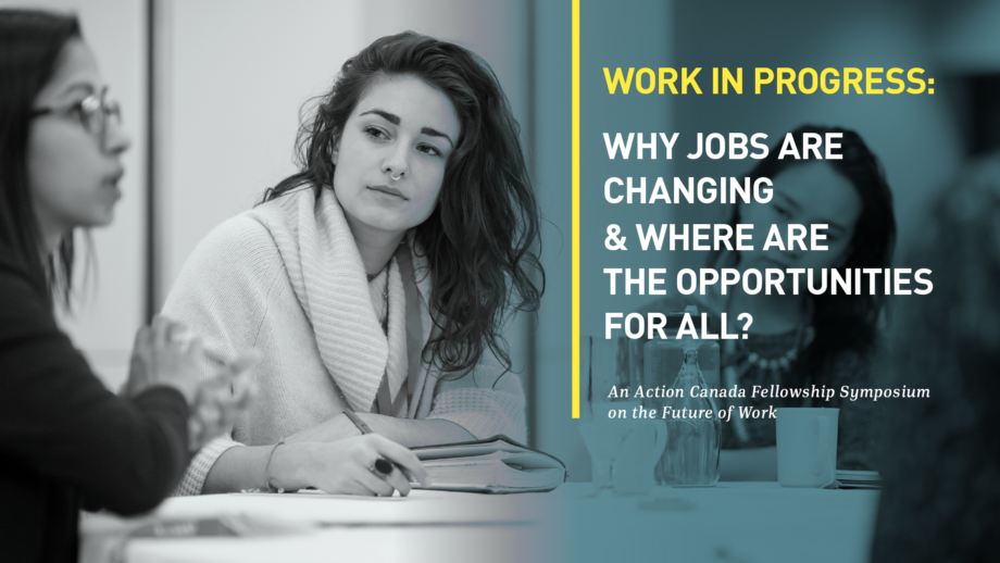 Work in Progress: Why jobs are changing and where are the opportunities for all?