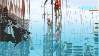 Decorative image of construction workers