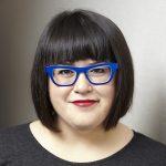 Karen Restoule wearing great blue glasses